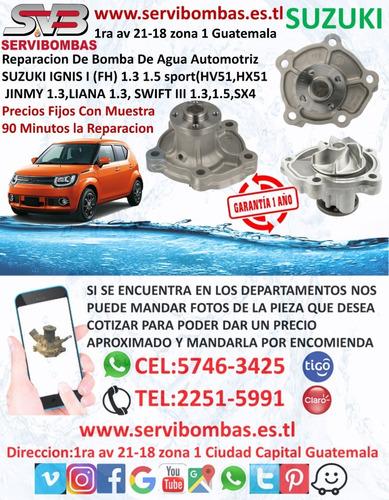 reparación de bombas de agua automotrices suzuki ignis 1.3