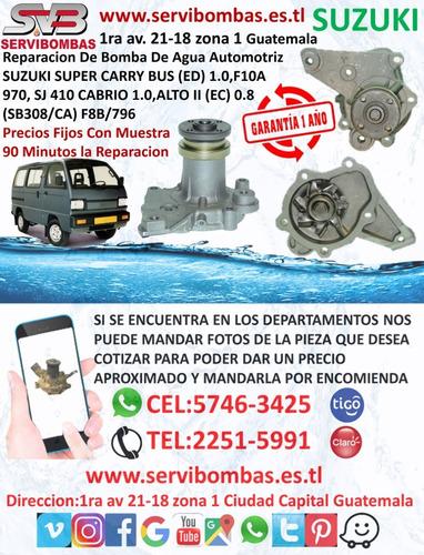 reparación de bombas de agua automotrices suzuki samurai 1.0