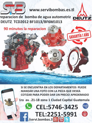 reparacion de bombas de agua  chevrolet gmc silverado 1500,2