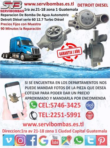 reparación de bombas de agua detroit diesel dd13/dd15