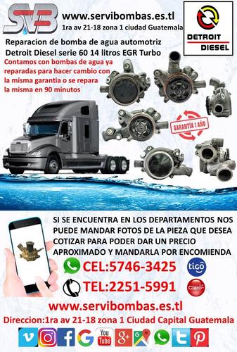 reparacion de bombas de agua  hino h07d,h06d guatemala