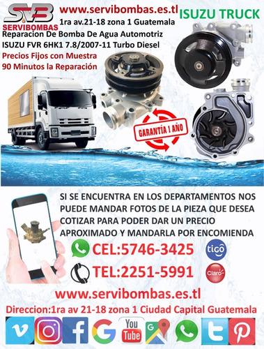 reparación de bombas de agua isuzu d-max 2.5 turbo diesel