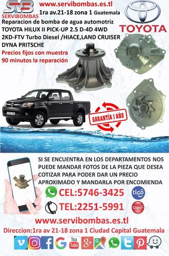 reparación de bombas de agua jinbei turbo auto 4f90 guatemal