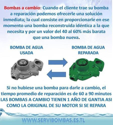 reparación de bombas de agua john deere 310j 4045d guatemala