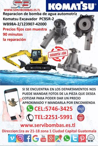 reparación de bombas de agua  komatsu 6d95l /wa120 excavador