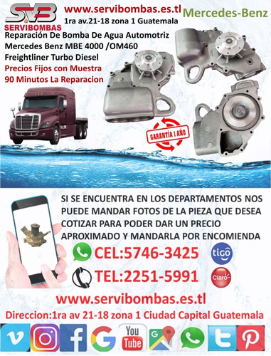 reparación de bombas de agua mercedes benz guatemala