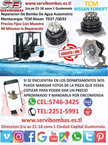 reparacion de bombas de agua nissan navara yd25 2.5 d40 turb