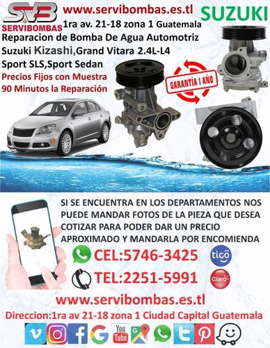 reparación de bombas de agua suzuki samurai 1.0 en guatemala