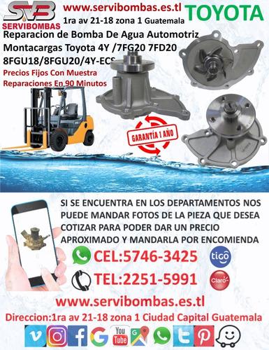 reparación de bombas de agua toyota hilux 2kd 2.5 turbo guat