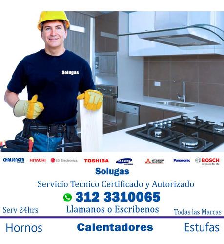 reparacion de calentadores, arreglo y mantenimiento estufas