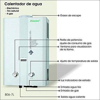 reparación de  calentadores de agua a  gas