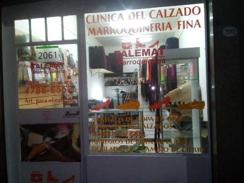 reparación de calzado, arreglos de ropa, marroquineria