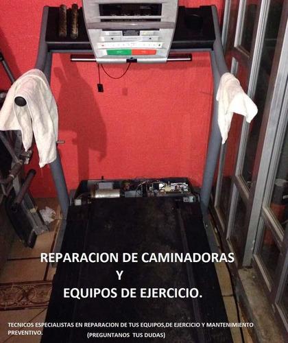 reparación de caminadoras y equipos de ejercicio.