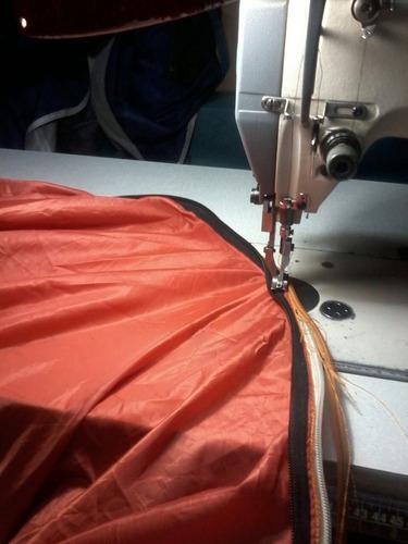 reparación de carpas, mochilas, bolsas de dormir y fundas.