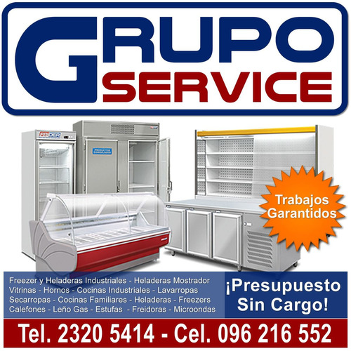 reparación de: cocinas, lavarropas, heladeras, service