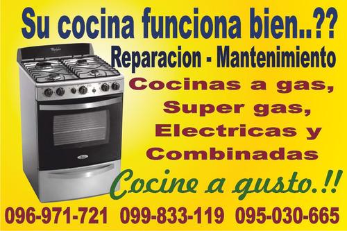 reparacion de cocinas,estufas gas,electricas y combinadas