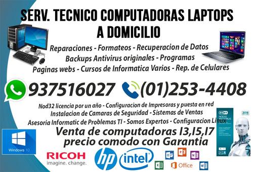 reparación de computadoras a domicilio