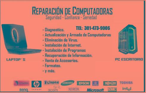 reparación de computadores cali