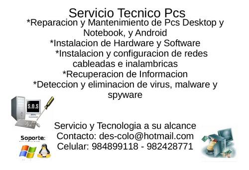 reparacion de computadores, notebook, pc