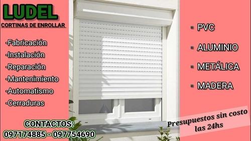 reparación de cortinas de enrollar metálicas y plástico