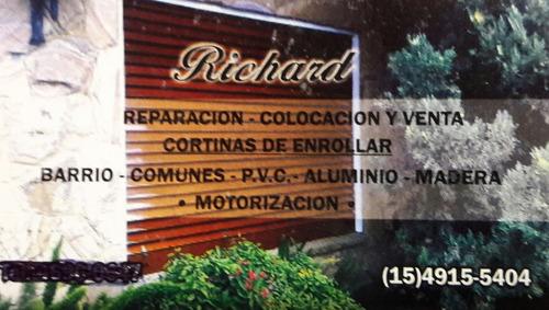 reparación de cortinas ,madera,aluminio,pvc cortinasrichard