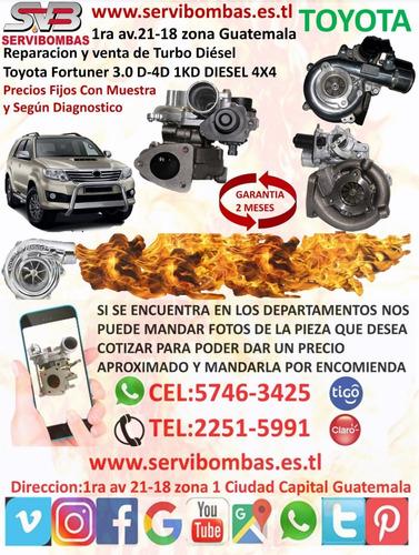 reparacion de  de turbo toyota hilux 2kd 2.5 guatemala