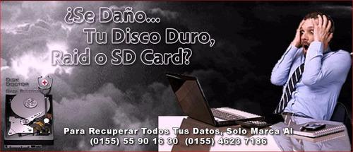 reparación de discos duros, usb , memorias sd cards