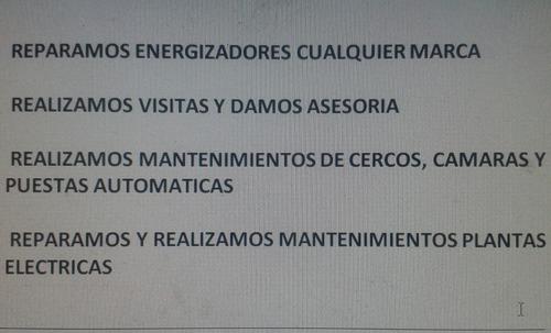 reparacion  de energizadores cercos electricos