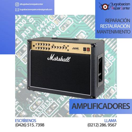 reparación de equipos de audio e instrumentos musicales