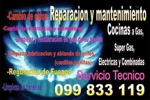 reparacion de estufas,cocinas combinadas,gas,electricas
