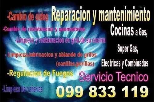 reparacion de estufas/cocinas,service hornos,anafes