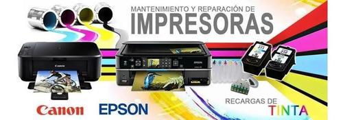reparación de impresoras, venta de  sistemas y tintas