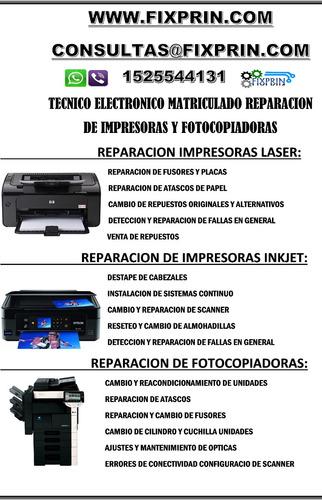 reparacion de impresoras y fotocopiadoras presupuesto s/carg