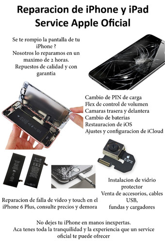 reparacion de iphone y ipad