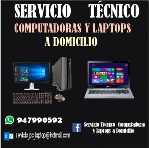 reparación de laptops, computadoras e impresoras a domicilio