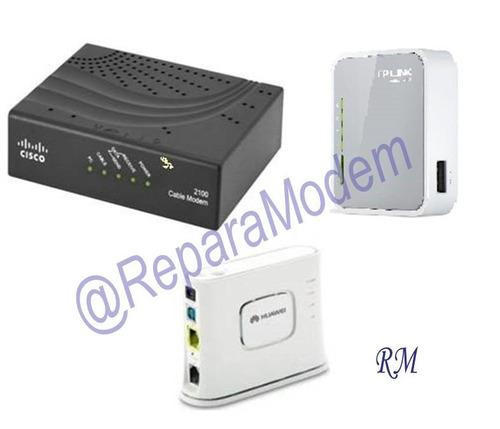 reparación de modem,cable módem y router wifi garantía 2 ms