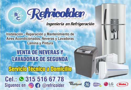 reparacion de neveras, lavadoras, airesacondicionados