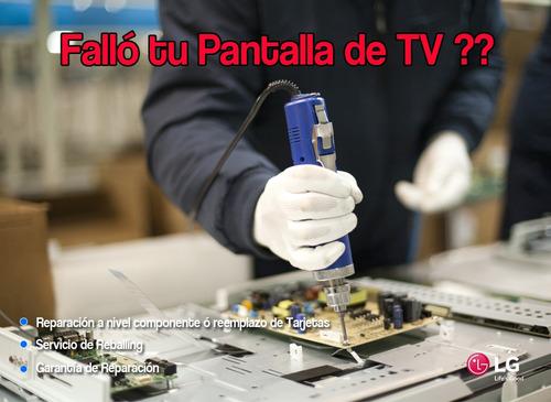 reparación de pantallas de tv lg servicio técnico lg