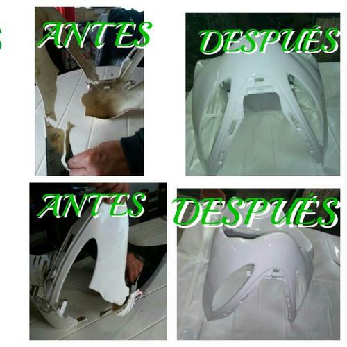 reparación de paragolpes plasticos chapa y pintura auto moto