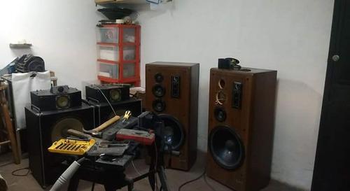 reparación de parlantes, fab de crossover y cambio de telas