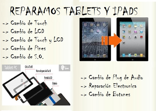reparación de pc, notebook, all in one, tablets y monitores