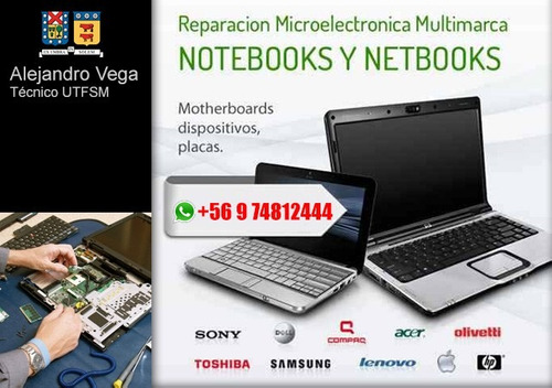 reparacion de pc, notebook, tablet, smartphone, etc...