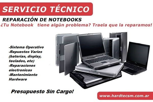reparacion de pc, notebooks,tablets, impresoras, monitores