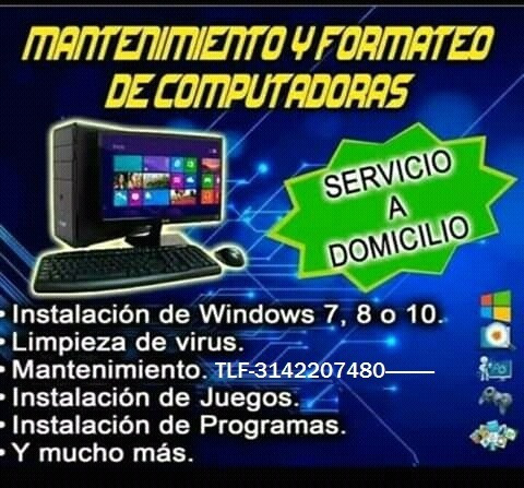reparación de pc y laptos ha domicilio
