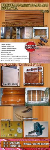 reparacion de persianas y cortinas de enrollar de madera.