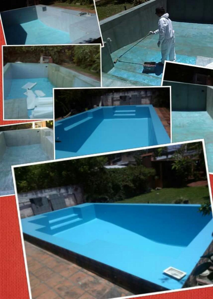Reparaci n de piscinas plastificados en fibra de vidrio for Reparacion de piscinas