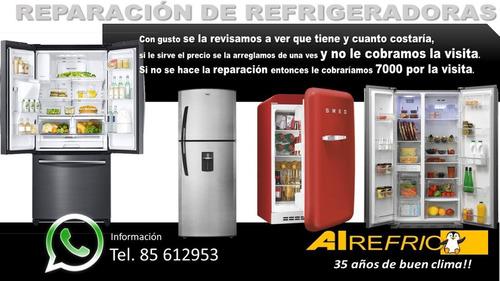reparación de refrigeradoras a domicilio técnico certificad*