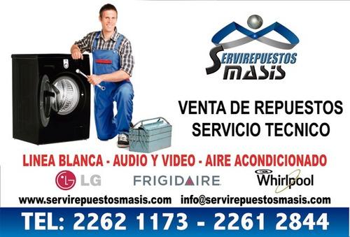 reparacion de refrigeradoras,lavadoras,frigidaire,whirlpool,