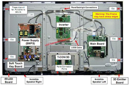 reparación de smart tv led plasma lcd