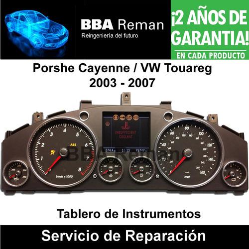 reparación de tablero porsche cayenne vw touareg 2003-07